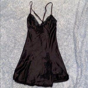 Black lingerie slip